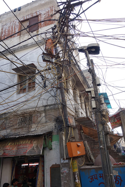 Electricity transmission, Indian style.
