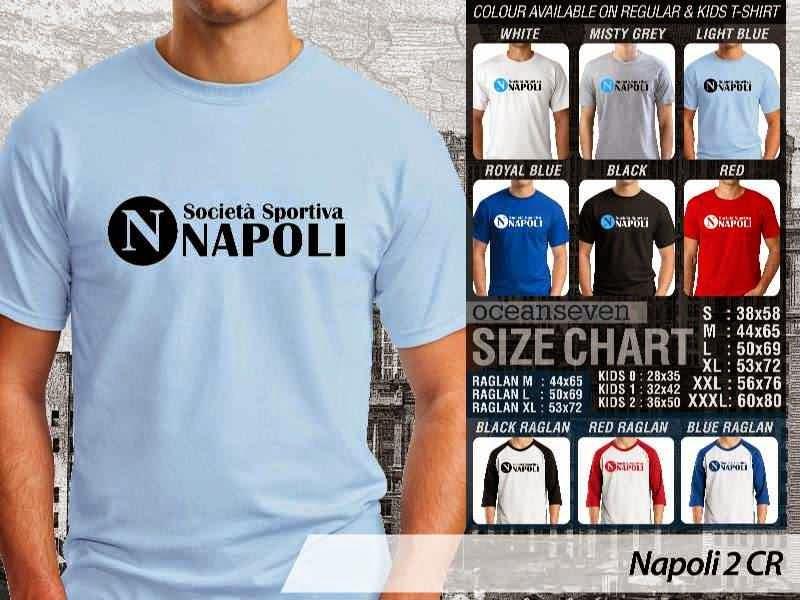 kaos bola bola Napoli 2 Lega Calcio distro ocean seven