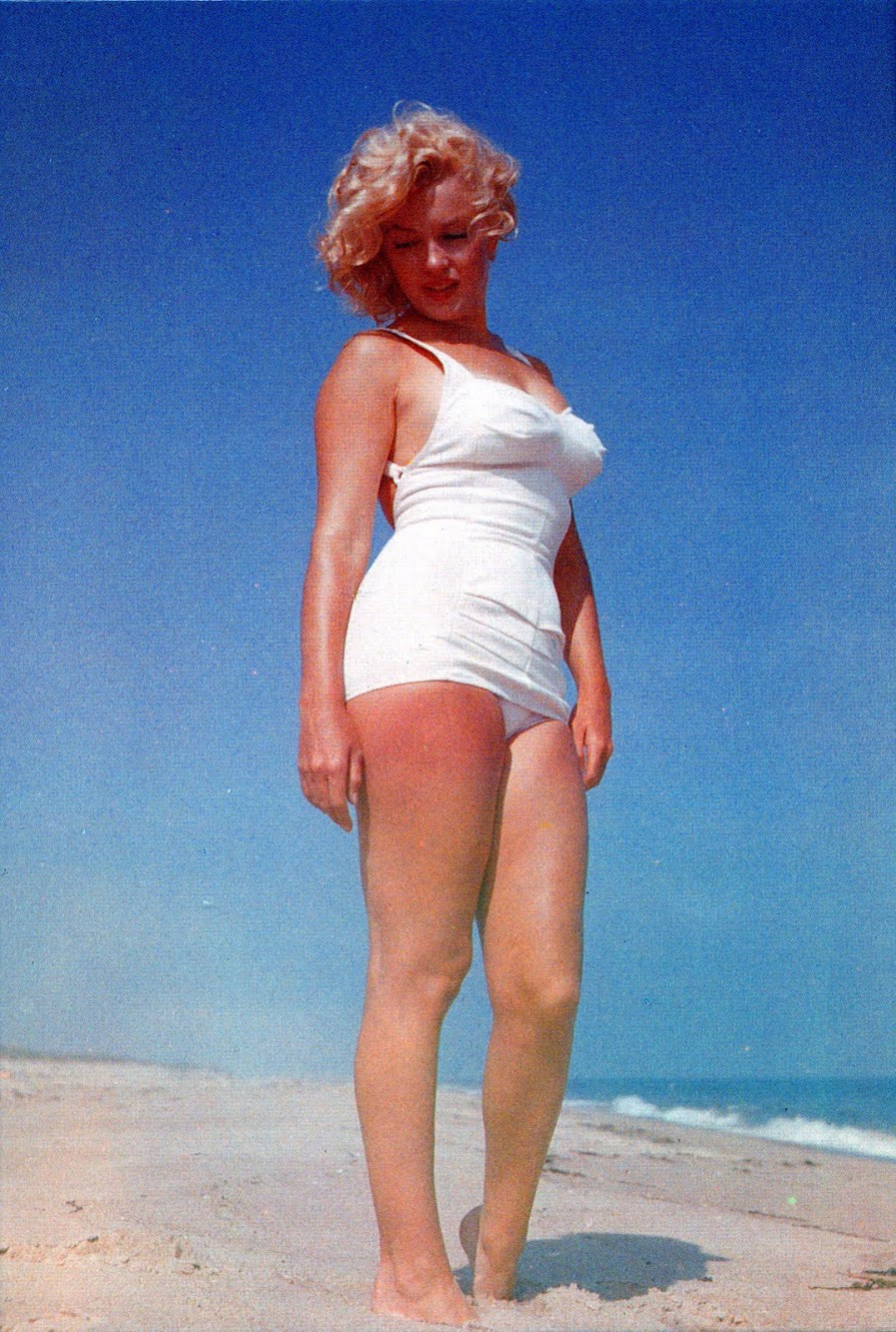 Marilyn Monroe at the Beach