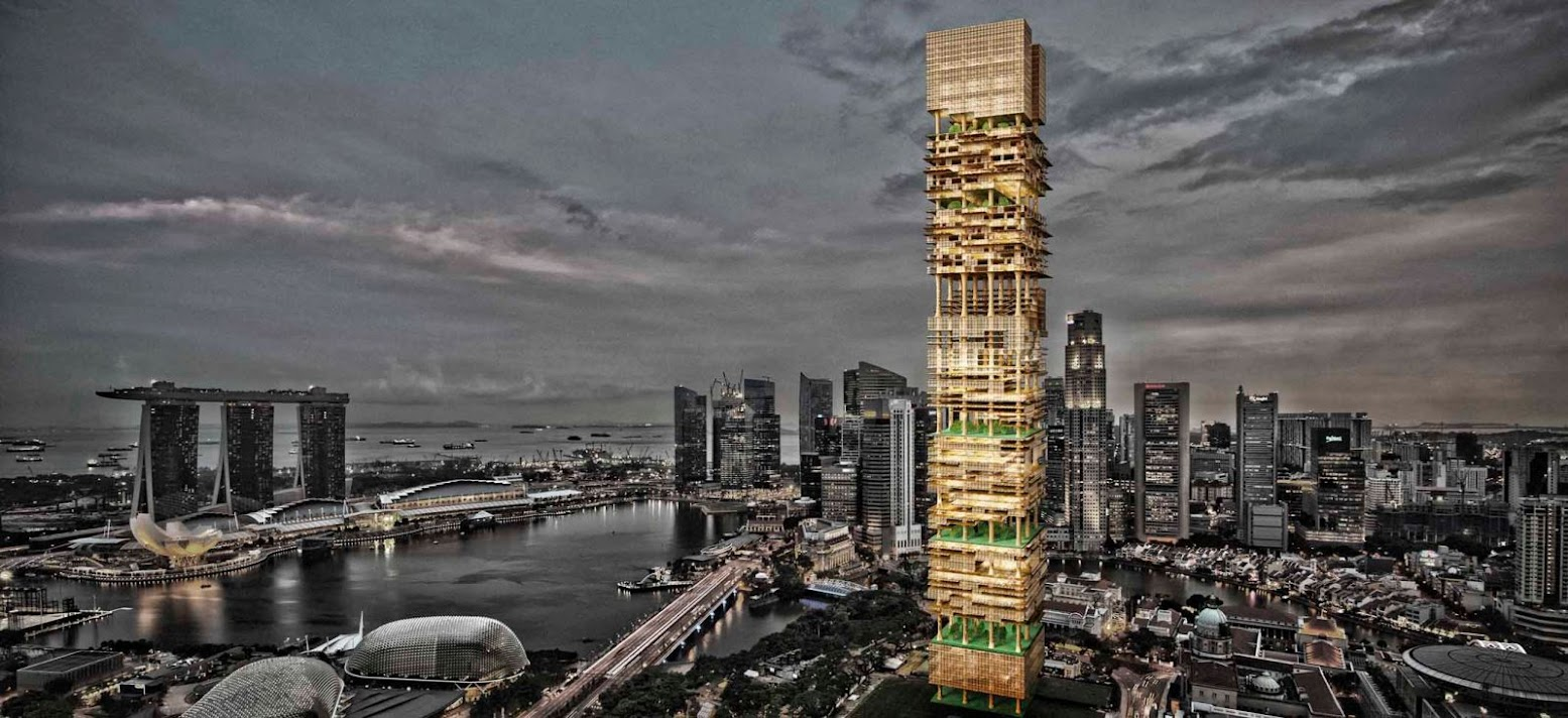 Singapore Bamboo Skyscraper Competition 1st Place