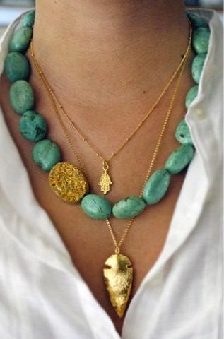 bijoux fantaisie collier turquoise