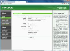 Konfigurasi SSID dan parameter radio wireless