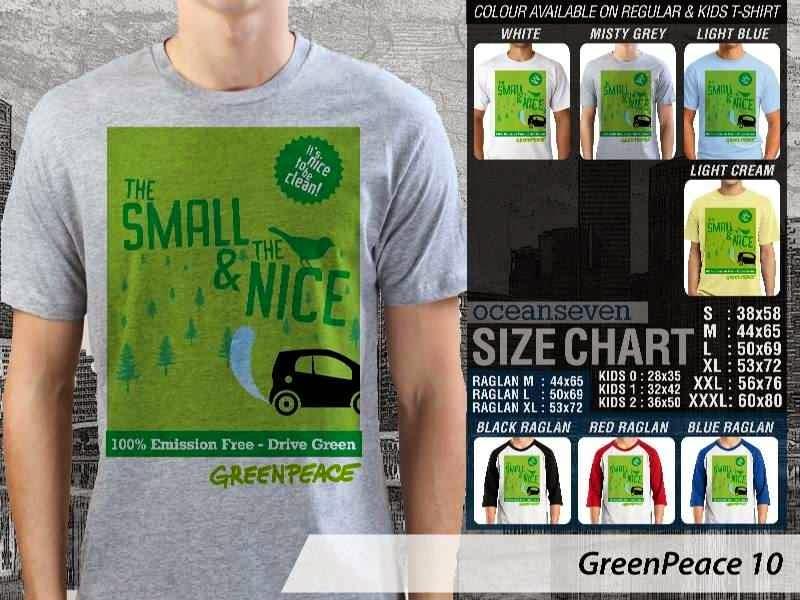 KAOS Cinta Bumi GreenPeace 10 | KAOS Selmatkan Bumi greenpeace small nice distro ocean seven