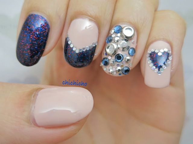Holiday Glam Nail Art New Year Party