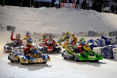картинговая гонка по льду на Wrooom 2013