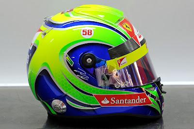шлем Фелипе Масса сбоку на Гран-при Индии 2011