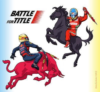Battle for Title - битва за титул между Фернандо Алонсо и Себастьяном Феттелем 2012