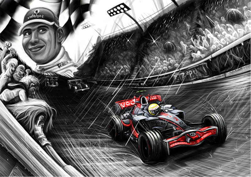 Льюис Хэмилтон McLaren комикс MrDeski