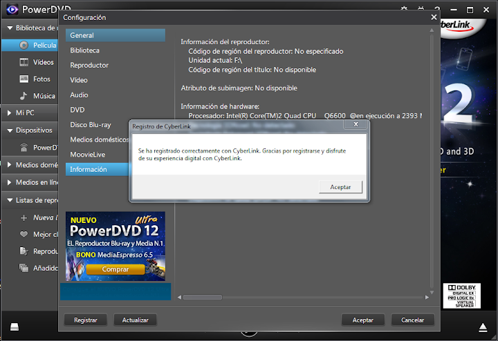 Download : CyberLink PowerDVD 9 Ultra Build 1719 Patch Download : CyberLink