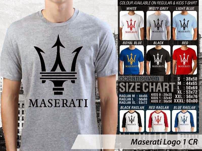 KAOS Maserati Logo Otomotif distro ocean seven