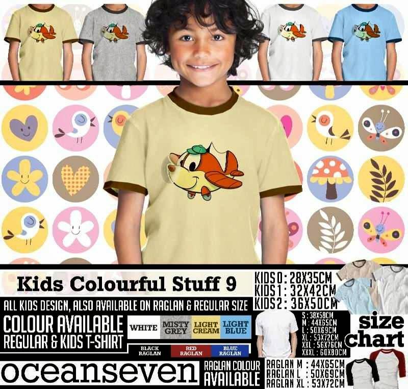 Kaos anak Kids Colourful 9 Lucu Gambar Air Plane distro ocean seven