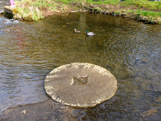 Mill Stone in River Dove at Milldale