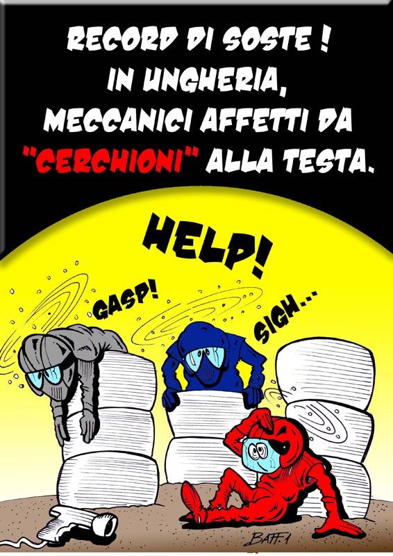 Рекордное количество пит-стопов в Венгрии - комикс Baffi по Гран-при Венгрии 2011