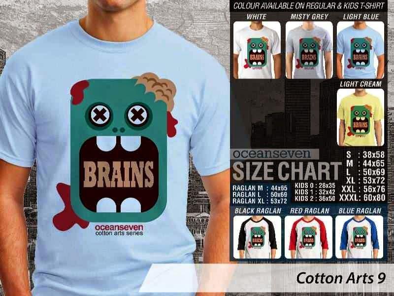 KAOS Gaul Brains Monster Zombie Cotton Arts 9 Ocean Seven distro ocean seven