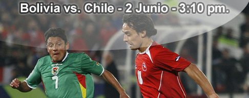 Bolivia vs Chile en VIVO - 2 Junio 2012