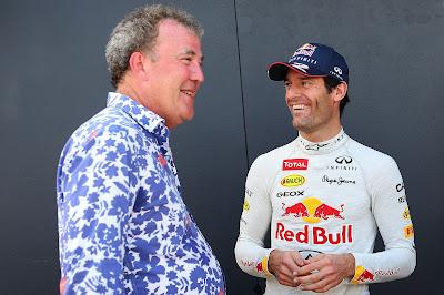 Марк Уэббер и Джерем Кларксон на фестивале Top Gear в Сиднее 10 марта 2013
