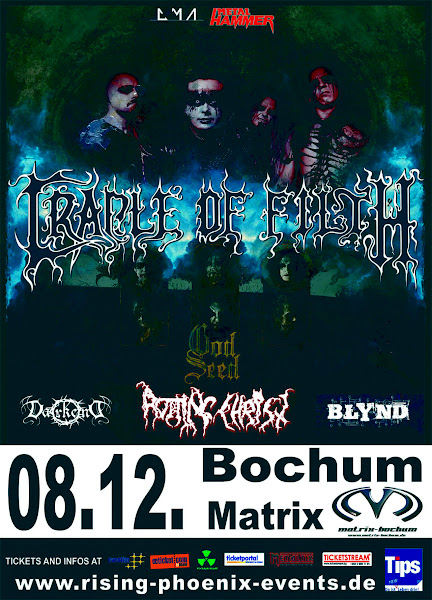 Cradle of Filth / God Seed / Blynd @ Matrix, Bochum (Allemagne) 08/12/2012