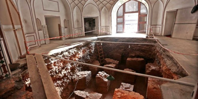 50 per cent of Lahore Mughal baths excavated