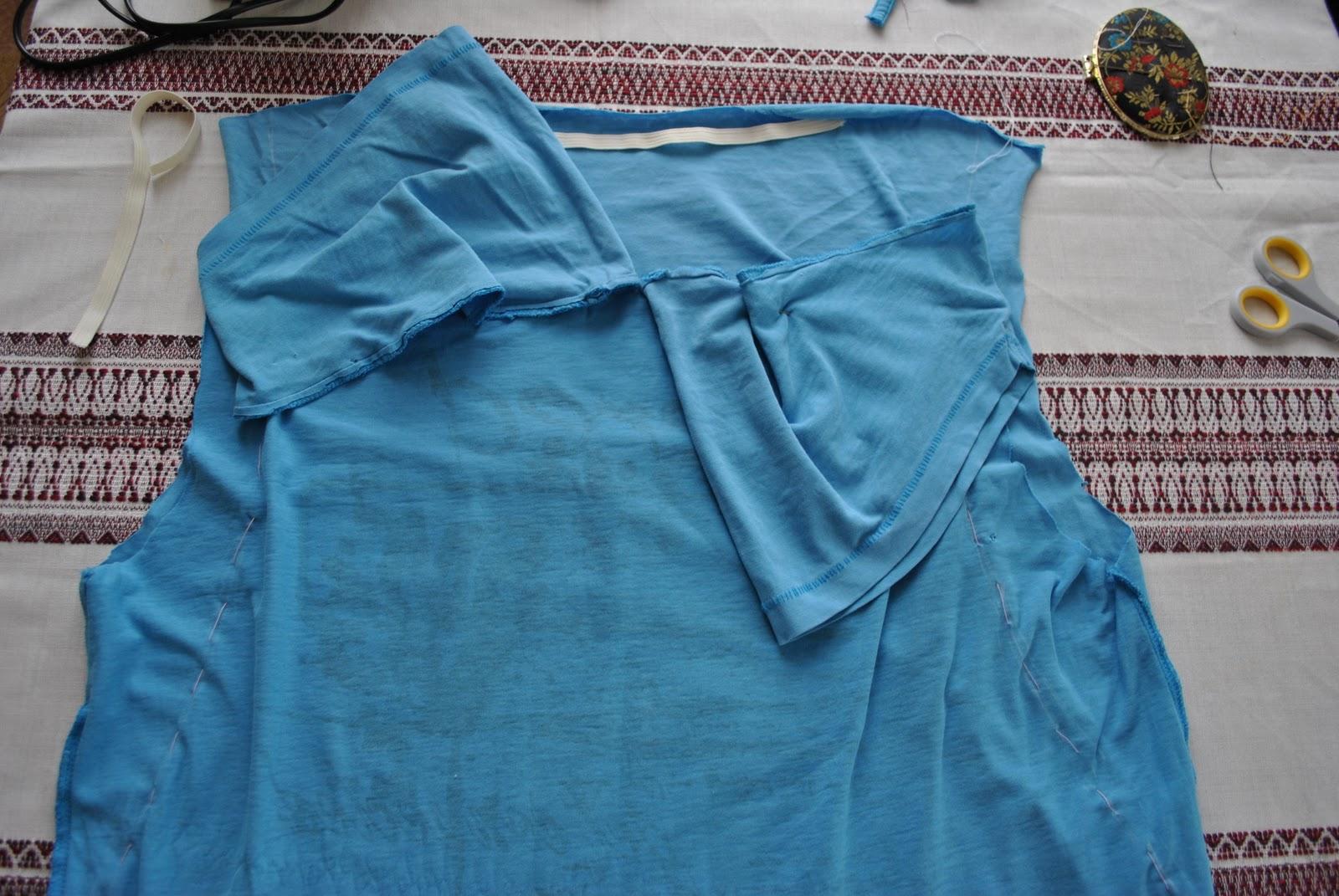Как сшить сарафан из майки и ткани