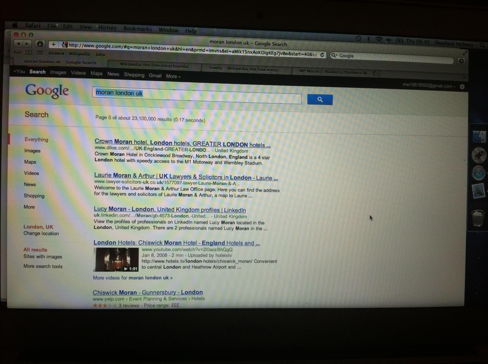 Google search: 'moran london uk' - page 5