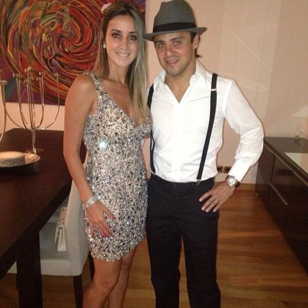 Фелипе Масса и Рафаэла Масса в вечерних нарядах
