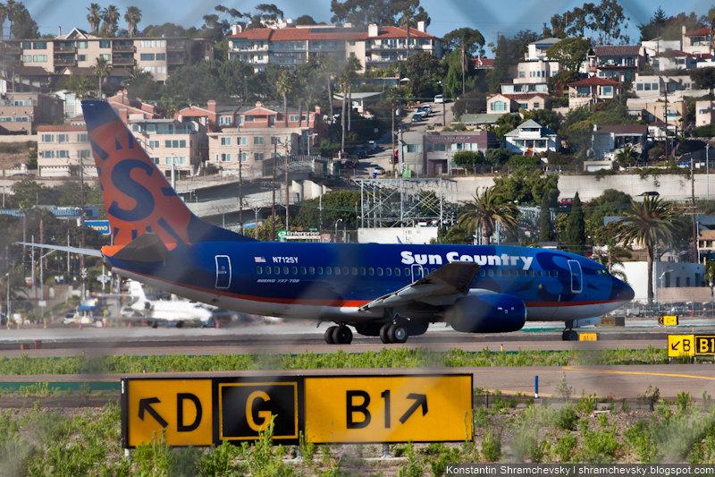 USA California San Diego Internagional Airport Lindbergh Field Sun County N712SV Boeing 737 США Калифорния Сан-Диего Международный Аэропорт Линдберг Филд поле Сан Каунти Боинг 737