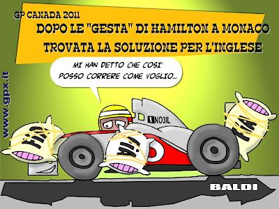 комикс Baldi про Льюиса Хэмилтона на Гран-при Канады 2011