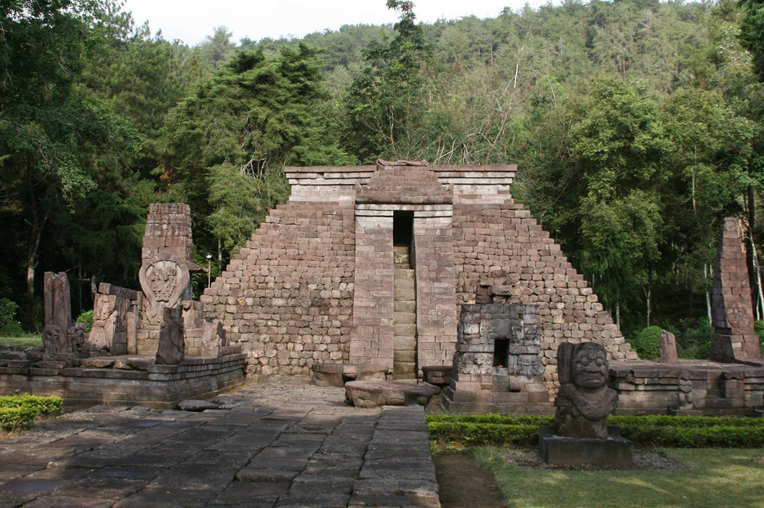 Java: Centuries-old Sukuh temple undergoing restoration work