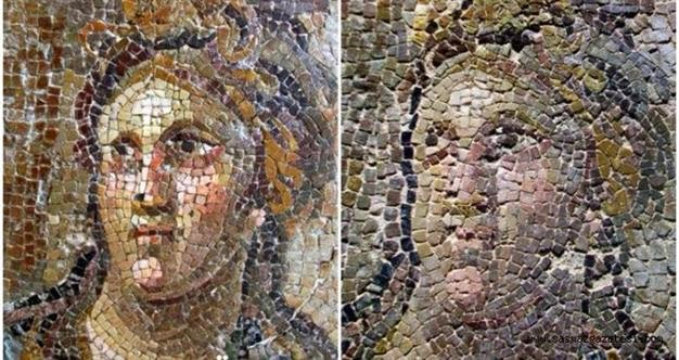 Ancient mosaics damaged during restoration in Turkey