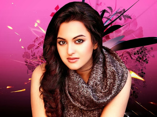 Cute H0t Pictures Sonakshi Sinha in Long Curly Hairstyles