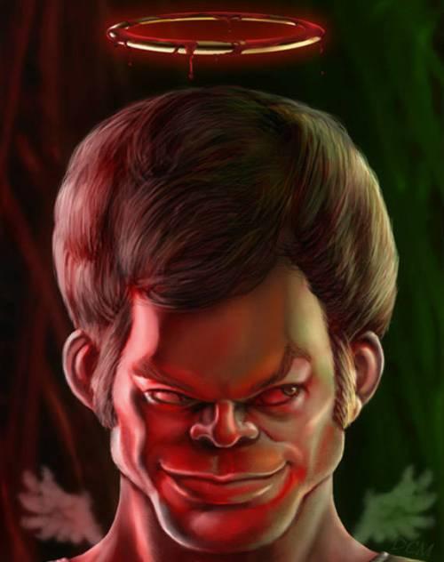 Майкл Холл - Декстер - 18 юмористических карикатур на знаменитостей из 15 известных кинолент