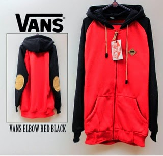Jaket Vans Red Black