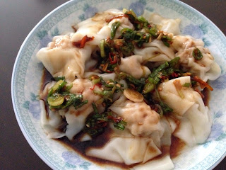 Wonton in Hot Chili Sauce