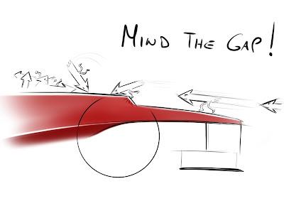 болиды Формулы-1 со ступенькой на носу - комикс Mind The Gap от Michele Dragoni