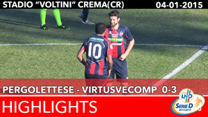 Pergolettese -VirtusVecomp - Highlights del 04-01-2015