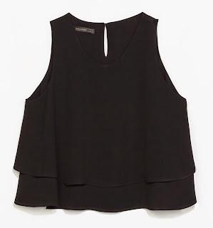 blusa zara en capas amplia y corta