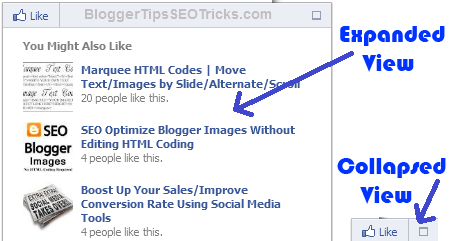 how to add facebook recommendation bar in blogger