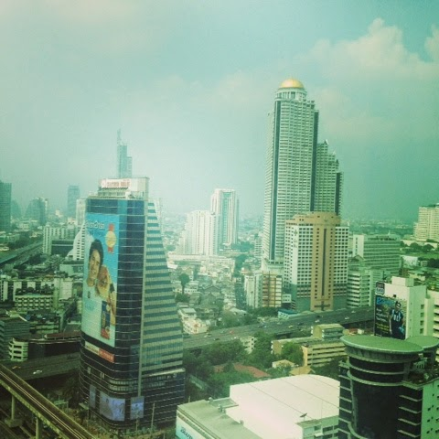 The Bangkok city skyline view