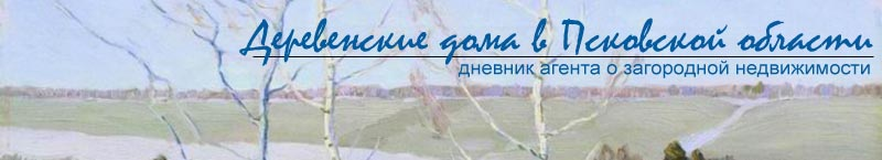 Деревенские дома в Псковской области