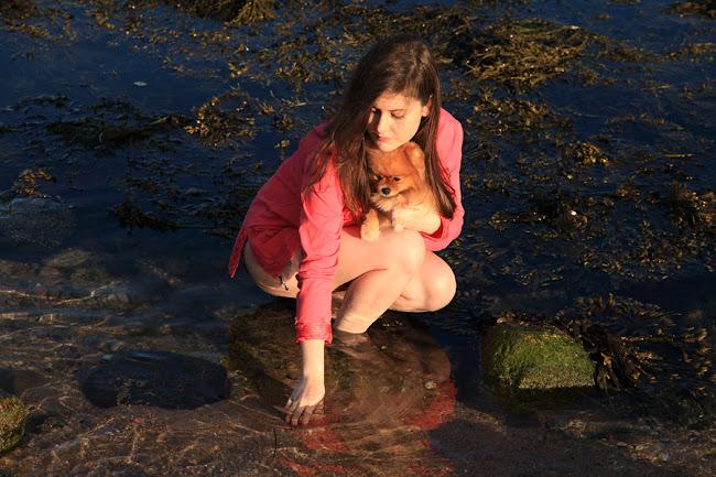 Caroline Culler on the beach