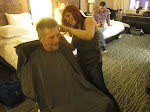 we got in-room haircuts before the big night