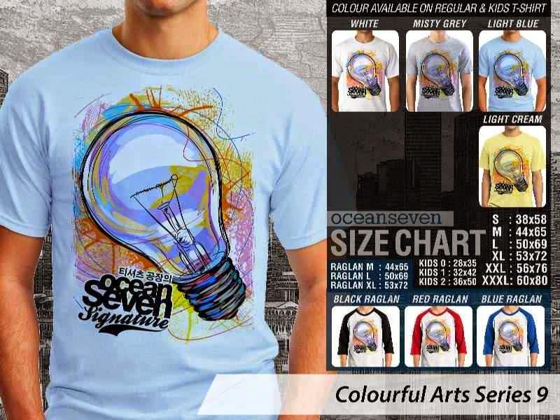 KAOS keren Colourful Arts Series 9 lampu bohlam Lampu Bohlam | KAOS Colourful Arts Series 9 distro ocean seven