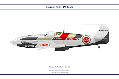 Kawasaki Ki-61 in the BAR Honda livery