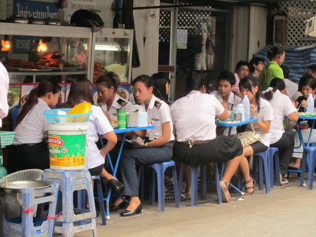 A lunch break in Bangkok