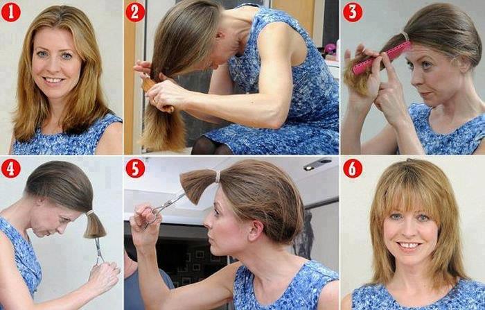 Pettinature veloci capelli scalati