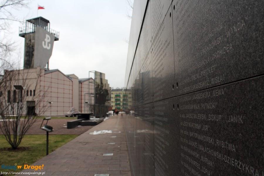 muzeum powstania warszawskiego - mur pamięci