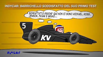 Рубенс Баррикелло доволен своими первыми тестами в IndyCar - комикс Baldi
