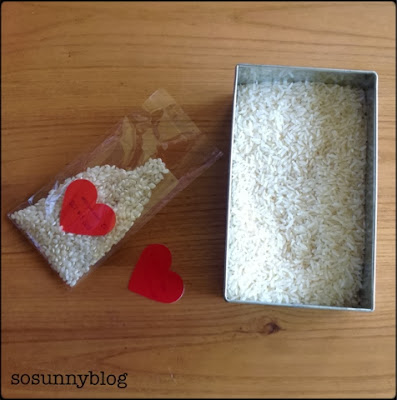 DIY wedding rice. Arroz para boda