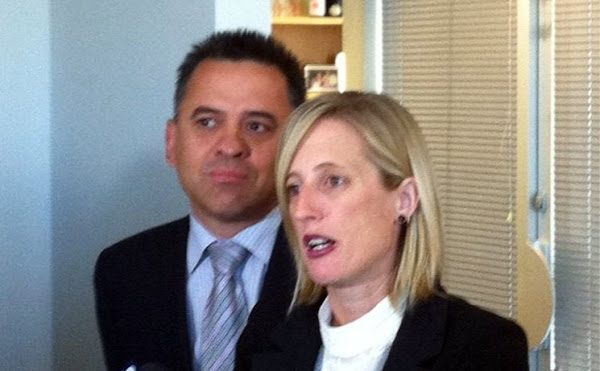 katy gallagher and Chris Bourke