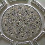 The Intricate Ceiling of the Hassan II Mosque Washroom - Casablanca, Morocco